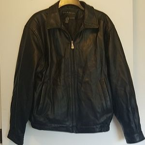 Men's Croft & Barrow leather coat